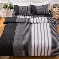 kokomos扣扣馬 鎮瀾宮大甲媽授權精梳棉205織紗雙人床包枕套三件組 黑白旋律