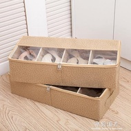 收納盒  加厚透明鞋盒床底收納靴子鞋袋可組合鞋子收納箱鞋子收納盒長靴盒  聖誕節禮物