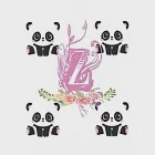 z: panda bear Personalised Initial z Monogram Composition Notebook Journal for Girls and Kids: panda bearNotebook Journal