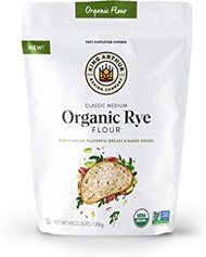 King Arthur Flour Arthur Classic Medium Organic Rye Flour For Complex Flavorful Breads & Baked Goods 100% Organic NonGMO Project Verified 3 Pounds 3 Pound (Pack of 1)