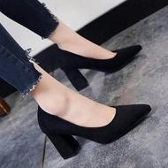 ✨✨ คัชชูหัวแหลมส้นสูงผู้หญิง รองเท้าส้นสูงแฟชั่นขายดี รองเท้าคัชชูส้นสูง 2 นิ้ว สีเทา / สีดำ / สีแดง ✨✨