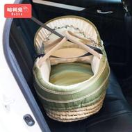 嬰兒提籃 新生兒便攜式手提籃車載寶寶提籃床草編外出車載提籃 NMS