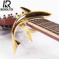 จัดส่งฟรีสำหรับ WM Klang Valley WM Non Klang Valley EM ดนตรี Sabah กีต้าร์รูปร่าง SCIOLTO อะไหล่กีฬาเครื่องมือระดับมืออาชีพ capo ฉลามของขวัญ
