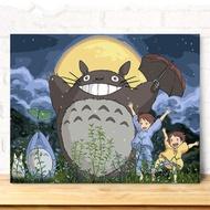 ♥現貨♥ 數字油畫 數字油彩畫 diy   填色  數字油畫  客廳卡通動漫兒童手工繪 裝飾畫  龍貓