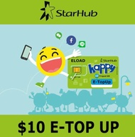 STARHUB PREPAID $10 eTop-Up - 24 Hours Instant Delivery!