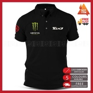 Polo T Shirt Yamaha Tech3 Monster Embroidery MotoGP Motorcycle Motosikal Superbike Racing Team Casual 125Z RXZ TZM SRL