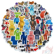 Bearbrick - Cartoon Character Cosplay Stickers 50Pcs/Set DIY Fashion Mixed Waterproof Doodle Decals Stickers
