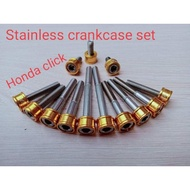 Stainless Crankcase bolts set for Honda Click 125/150