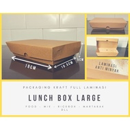 Lunch Box Kraft Large Paper Tray Paper Brown Paper Lunch Box Rice Box Rice Box