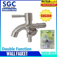 SGC STAINLESS Double Function Wall Faucet SUS304-9028