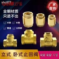 ♛黃銅立式止回閥 逆止單向閥 橫臥式水表水泵前止逆閥4分6分1寸