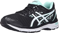 ASICS Women's Gel-Excite 4 Running Shoe, Black/White/Mint, 10.5 W US