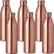Six Copper water Bottles
