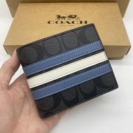 COACH F26072 กระเป๋าสตางค์แท้ 100% / กระเป๋าสตางค์ผู้ชายใบสั้น / กระเป๋าใส่เหรียญ / กระเป๋าใส่บัตร  / กระเป๋าสตางค์พับ