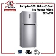 EuropAce 500L Deluxe 2-Door Top Freezer Fridge ER 5461U