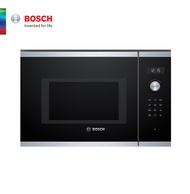 (Bulky) Bosch BEL554MS0K 38 cm Built In Stainless steel Microwave Oven with Grill function 38cm height, 13amp connection, 2 years local warranty