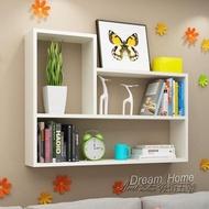 L型牆上置物架免打孔壁櫃牆上書架客廳牆面置物架臥室牆壁掛現代簡約CY