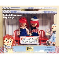 Mattel 1999年 raggedy Ann & Andy Kelly Barbie 安娜貝爾 芭比娃娃 小凱莉