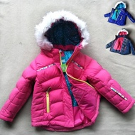 【橘魔法】毛毛帽防風防潑水雪衣(滑雪衣 寒流 保暖厚外套夾克 兒童保暖滑雪裝 滑雪 雪衣)