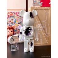 ARTOVERTURN Bearbrick1000%Erosion Crystal Bear Bearbrick Violent Bear Doll Fashion Decoration#toys
