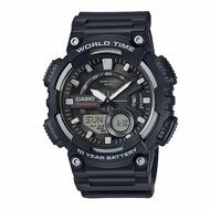 CASIO 世界城市雙顯錶/黑色/AEQ-110W-1AVDF