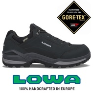 【LOWA 德國】Renegade GTX 寬楦低筒防水登山鞋 健行鞋 男款 黑/墨黑 (LW310967-9927)