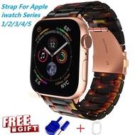 ใหม่บังคับ Apple Watch band สำหรับ Series 5 4 3 2 1 Resin Watch band Apple I Watch Series 5 Series 4 Series 3 Series 2 Series 1 สีสันสดใส