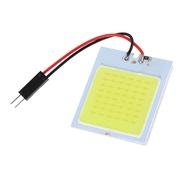 เยียน®1Pc สีขาว48 LED SMD COB T10 4W 12V แผงตกแต่งภายในรถยนต์ Light โคมไฟทรงโดมหลอดไฟ