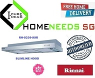 RINNAI RH-S239-SSR Slimline Hood | Stainless Steel and Metallic Silver Finishing | FREE DELIVERY