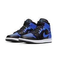 【NIKE 耐吉】Nike 休閒鞋 Air Jordan 1代 SE 男鞋 Royal 小黑藍 強勢回歸 8孔 黑 藍(554724077)