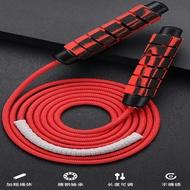 ~廣隆~升級7mm 9mm編織繩 負重跳繩 軸承跳繩 可調節長度 競技訓練跳繩 健身運動器材 負重鐵塊 可剪裁