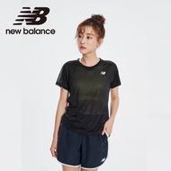 【NEW BALANCE】NB ICE X 涼感透膚細節短袖上衣_AWT01234BK_女款_黑色(亞版 版型正常)