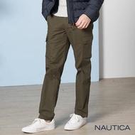 【NAUTICA】經典素色工作長褲(墨綠)
