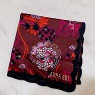 ANNA SUI 絲巾 手帕 日本製 正品 100%(全新)