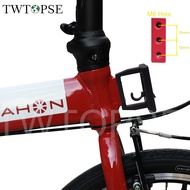 TWTOPSE Folding Bike Front Carrier Block For 2 3 Holes Brompton Dahon 3SIXTY PIKES CAMP Tern JAVA Fnhon Crius Folding Bicycle Bag Holder