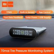 ougo-Xiaomi 70mai TPMS Tire Pressure Monitor Tpms Solar Power Usb Android USB Tmps 70 Mai Car Sensors System Alarm