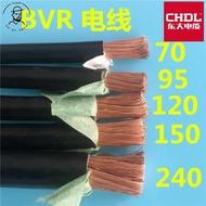 ⚙LSLM100🔨軟單芯銅芯電線 bvr95平方120/150平方185/240/300多股細銅電纜線