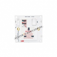 ❀◆☸hager MUSE WGMS113SUSB 13A single switched socket outlet + 2 x USB charger Suitable for BTO switch HDB, new install