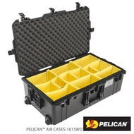 【PELICAN】1615WD Air 輪座拉桿超輕氣密箱-含隔板(黑)