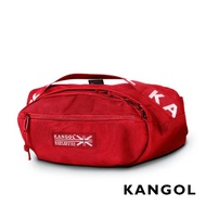 【KANGOL】LIBERTY系列 韓版潮流LOGO背帶腰包(紅 KG1191)