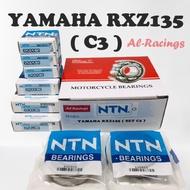 NTN YAMAHA RXZ 135 ( SET C3 ) 100% ORIGINAL Made In JAPAN Motorcycle Engine Bearing 6202 6203 6205 6303 6304 Al-Racings