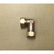 "15A雙插管快速接頭 1/2""插管轉1/2""插管 白鐵保溫管 太陽能被覆管 被護不鏽鋼軟管 熱水器 螺紋管熱水管"