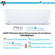 Daikin 2.0HP SMART Deluxe Inverter Air Conditioner FTKU Serie 2.0hp wall mounted FTKU50ALF - 5 star Energy Saving AirCond,Air Cond,冷气机