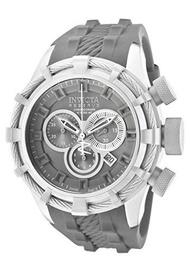 Invicta Mens 1225 Reserve Bolt Chronograph Titanium Tone Dial Titanium Tone Silicone Watch
