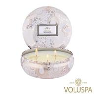 【美國 VOLUSPA】微笑蘭花 錫盒 340g香氛蠟燭(Mokara)
