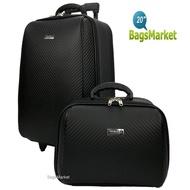 BagsMarket กระเป๋าเดินทาง WHEAL กระเป๋าเดินทางล้อลาก ระบบรหัสล๊อค เซ็ทคู่ ขนาด 20 นิ้ว/14 นิ้ว Luxury Classic Code F784120