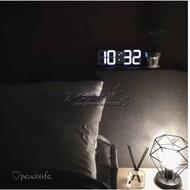 【七號小鋪】 韓風室內家居裝飾 電子時鐘 掛壁式時鐘 立體時鐘 簡約現代LED數字鐘