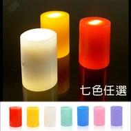 【USB充電】純蠟燭LED燈-中型*1入 (七色任選) * _地球家(弘麒)_