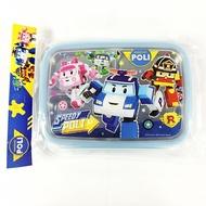 韓國製 POLI 波力 不鏽鋼 隔熱 餐盤 便當盒 兒童餐盤 環保餐具 附蓋  韓國進口正版 701422