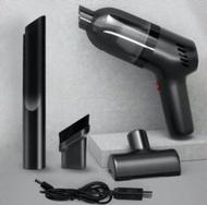 日本熱銷 - (黑色) USB便攜式無線車載吸塵機 LB-067C 無線吸塵器 充電大功率 車用吸塵器 強力吸塵器 家用小型迷你吸塵器 8000pa 超大吸力吸塵器 手提無線吸塵器 吸塵機